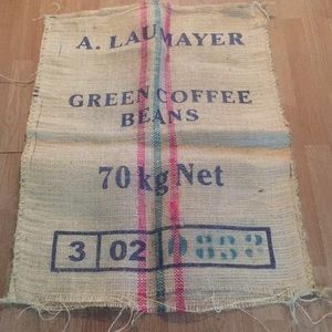 Other - Authentic Burlap Coffee Bean Bag for Wall!!